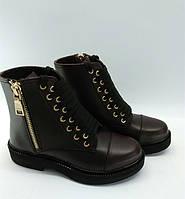 Ботинки женские кожаные на толстой подошве 0064АЛМ