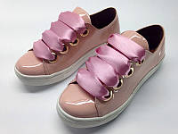 Женские слипоны на шнуровке кожаные/замшевые 0070АЛМ