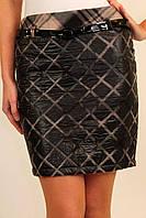 Стеганная молодежная теплая юбка, р.42,48 код 2829М