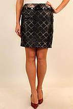 Стеганная молодежная (подростковая) теплая юбка, верх из плащевки, подклад на флисер.42 код 2829М, фото 2