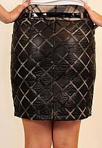 Стеганная молодежная (подростковая) теплая юбка, верх из плащевки, подклад на флисер.42 код 2829М, фото 3