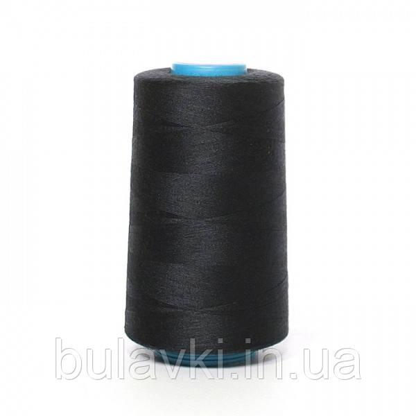 Нитка швейная черная бобина