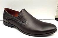 Мужские туфли черные натуральная кожа 0014БОКС