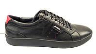 Мужские туфли кожаные черные на шнурках 0012МАР
