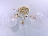 Люстра потолочная на 3 лампочки YR-3652/3-gd