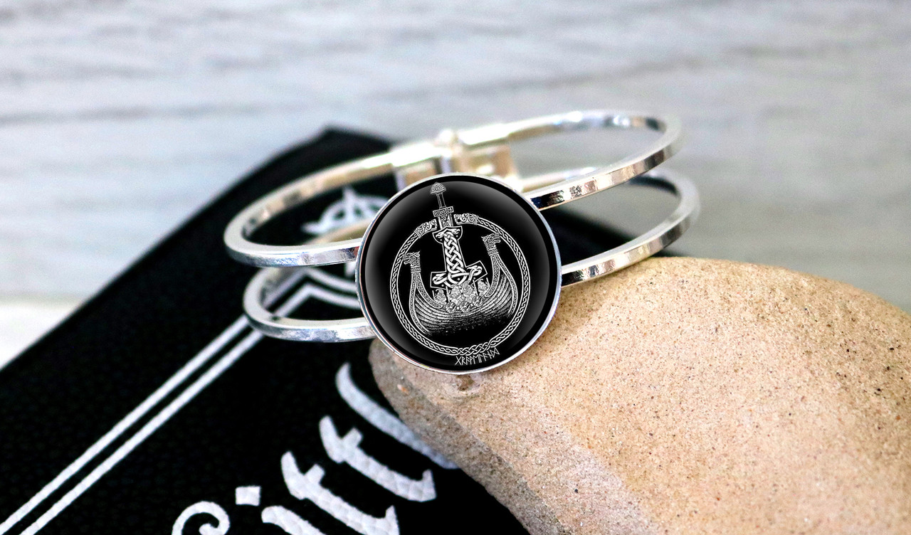 Браслет Скандинавская символика ладья викингов