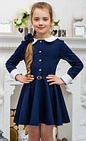 Школьное синее платье