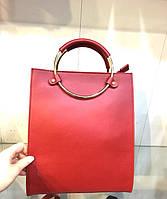 Женская сумка кольца на молнии натуральная кожа 0018-01