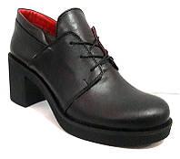 Туфли женские закрытые на каблуке натуральные 0006СОМ