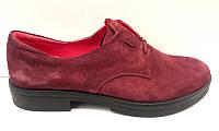 Туфли женские закрытые натуральная кожа/замша цвета разные 0009ТОМ