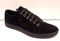 Слипоны-кеды мужские на шнуровке кожаные/замшевые 0022ЛЛМ