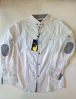 Белая школьная рубашка для мальчика подросток р-р 10-15 лет ARMANI