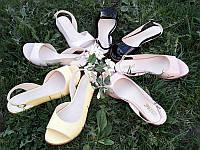 Босоножки женские кожаные на низком ходу цвета разные 0026КОМ