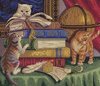 """Набор для вышивки крестом """"Panna"""" Котята с книгами Ж-1053"""