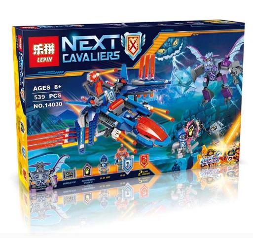 Конструктор Lepin серия Next Cavaliers 14030 Самолёт-истребитель «Сокол» Клэя (Аналог Lego Nexo Knights 70351)