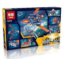 Конструктор Lepin серия Next Cavaliers 14030 Самолёт-истребитель «Сокол» Клэя (Аналог Lego Nexo Knights 70351), фото 2