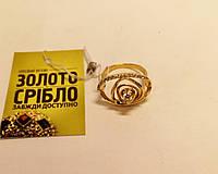 "Золотое кольцо с бриллиантами ""Роза"". Вес 4 гр, 0,25 ct."