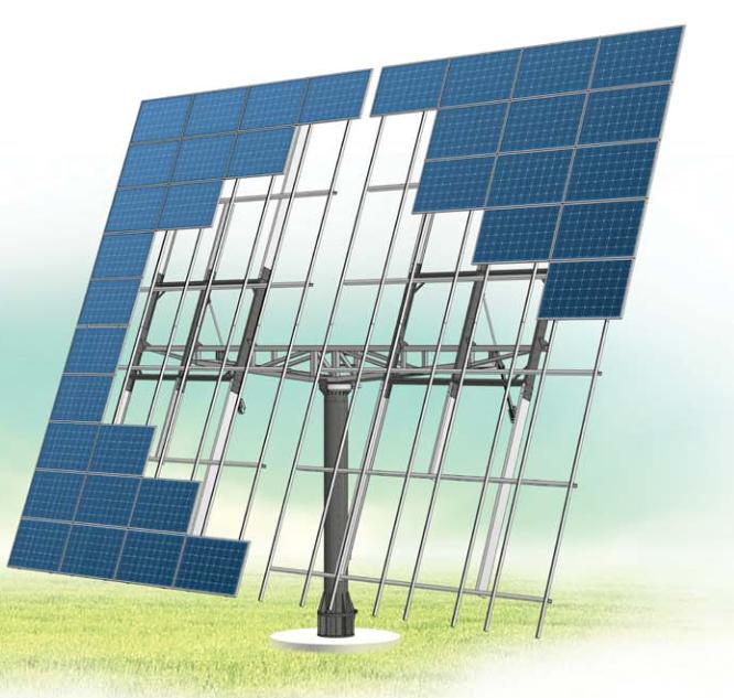 Солнечный трекер двухосный AS Sunflower 80 (система слежения за солнцем) - ECO TECH UKRAINE солнечная энергетика, энергоэффективные технологии. Продажа, строительство, сервис. в Кривом Роге
