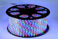 LED лента 5050 RGB тёплый жёлтый бухта 100 м