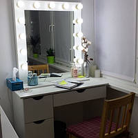 Стол для визажиста (макияжа) гримерный с подсветкой V94