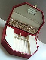 Шкатулка для ювелирных украшений многогранная с разными отсеками для изделий