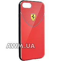 """Чехол для iPhone 7 Ferrari """"Exclusive"""" черно-красный"""