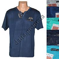 Мужская котоновая футболка 616 (в уп. до 5 разных расцветок) оптом со склада в Одессе