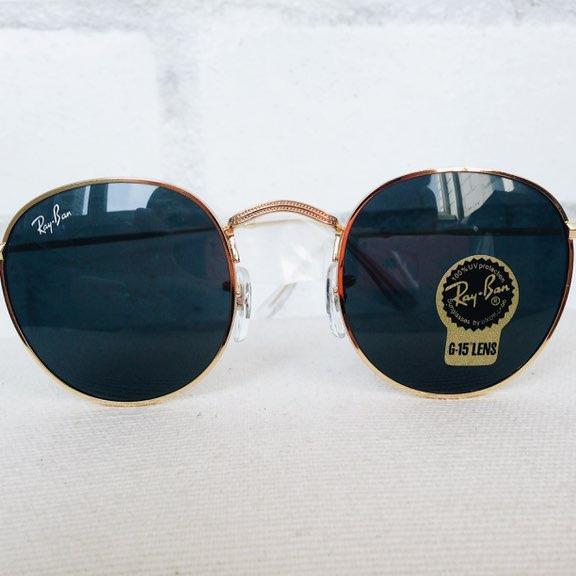 Очки Ray Ban RB 3447 Round Metal Gold копия. Круглые очки Рай Бан в ... f271ea9c59ae6