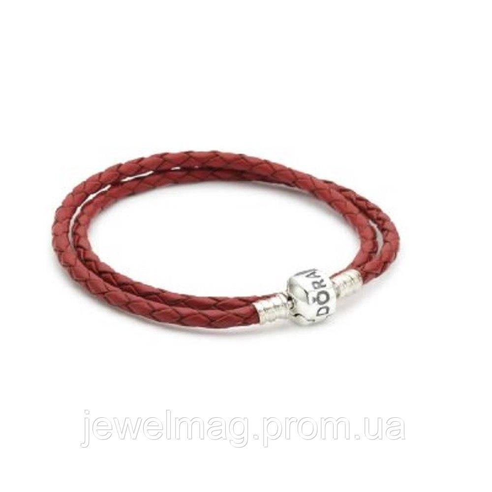 Основа под браслет с красным, коричневым кожаным ремешком