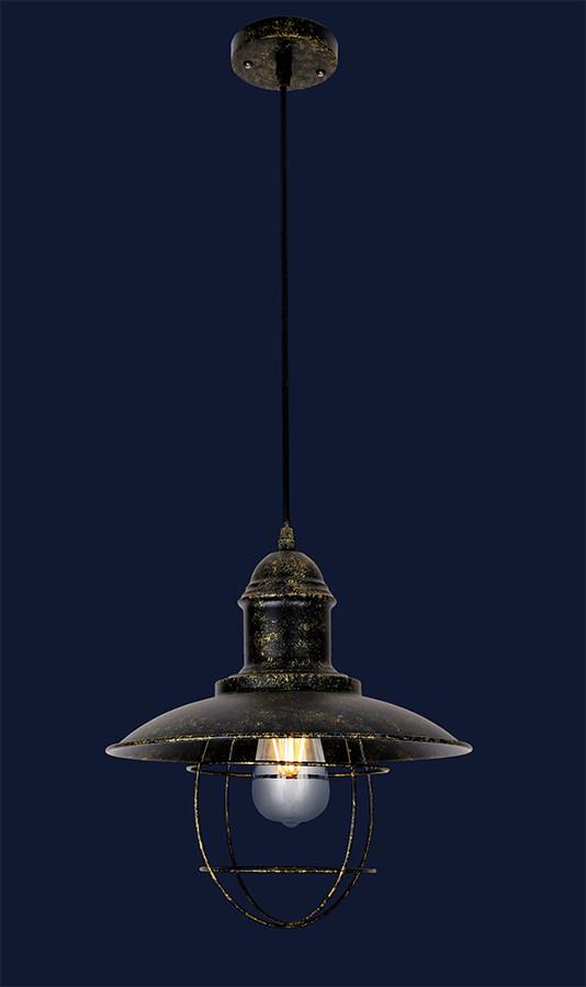 Светильник подвесной LOFT  L46WXA078-1 BK+GD