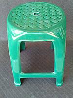 Табурет пластиковый, зеленый