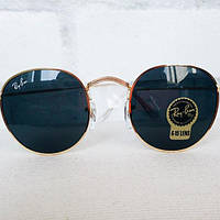 Круглые очки Ray Ban RB 3447 Round Metal Gold