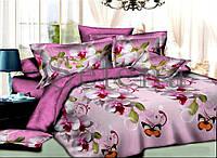 Орхидея с бабочками Постельное белье ранфорс