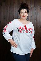 Украинская вышитая женская блуза, размер 42-60