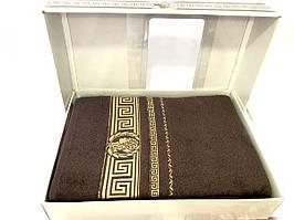 1Простынь махровая Sikel  200х220см № Sikel-хлопок-шоколад