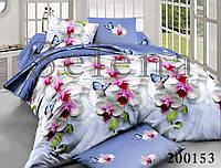 Орхидея Голубая Постельное белье ранфорс