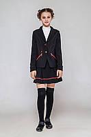 Школьный костюм для девочки Орнелла. Жакет и юбка. Размер 128- 146