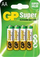 Батарейка GP Super Alkaline1.5V LR6 15A-2UE4, AA щелочная