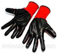 """Перчатки рабочие с покрытием,Size 10"""", красные, хозяйственные, защитные, садовые"""