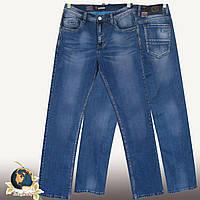 Фирменные мужские классические джинсы тёмно-голубого цвета Molake