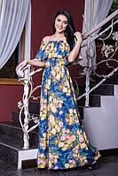 Романтичное платье в пол с цветами