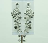 Бобмезные свадебные украшения. Элитные серьги 725