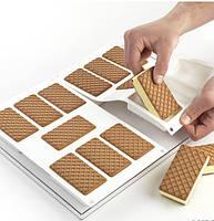 Форма для мороженого силиконовая Брикет с противнем 40х30 см. La Gelateria, Silikomart