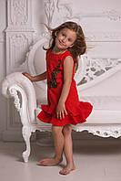 Платье детское ,ткань- натуральный однотонный лен, очень легкая структура ткани 2 цвета евлад №908-9