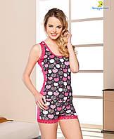 """Пижама женская футболка с шортами """"Lady Lingerie"""", Турция. Размеры 44-50"""