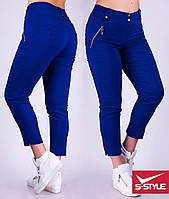 Женские батальные брюки-капри