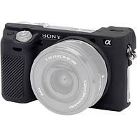 Защитный силиконовый чехол для фотоаппаратов SONY A6300 - черный