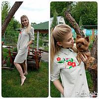 Рубаха-туника из конопляной ткани