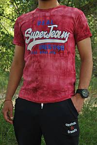 Футболка  мужская бордовая