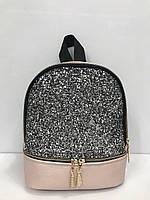 Женский рюкзак из кожзаменителя с блестками